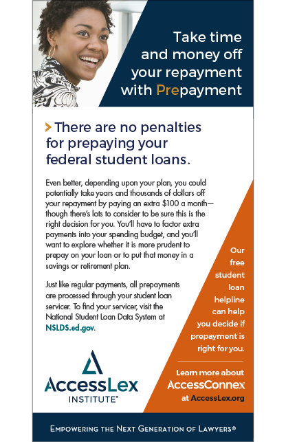 Federal Student Loan Prepayment