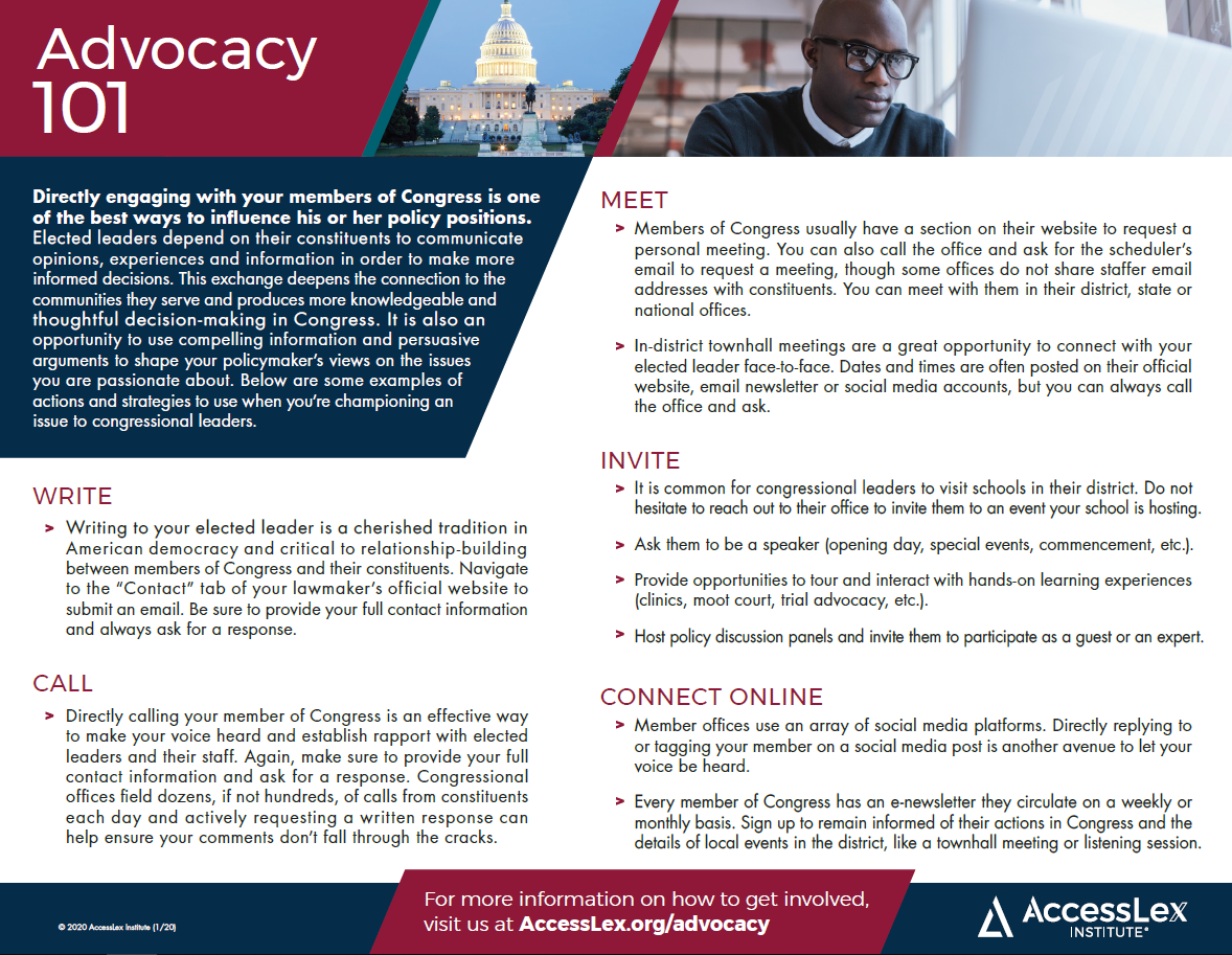 An advocacy 101 information sheet