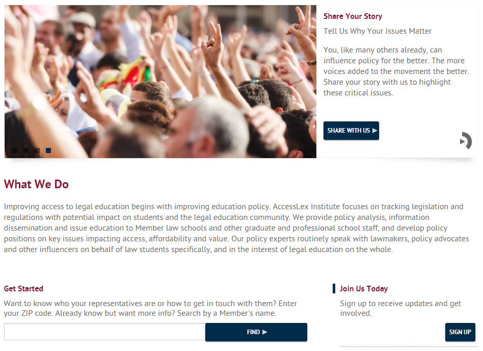 Advocacy Tool Homepage