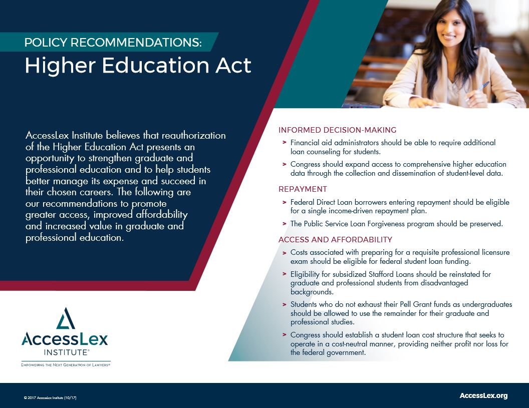 Higher education act information sheet