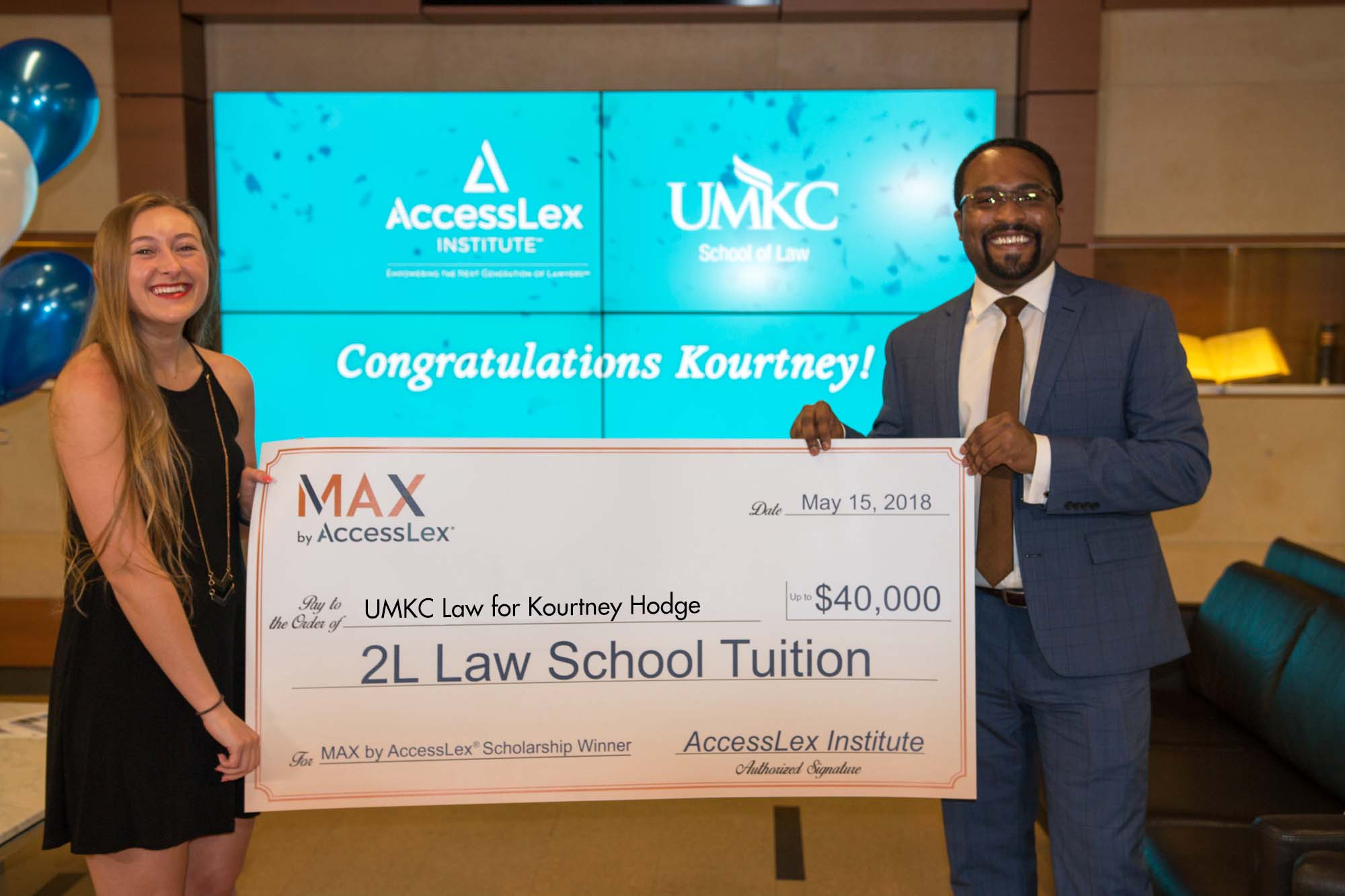 MAX Grand Prize Scholarship Winner Kourtney Hodge