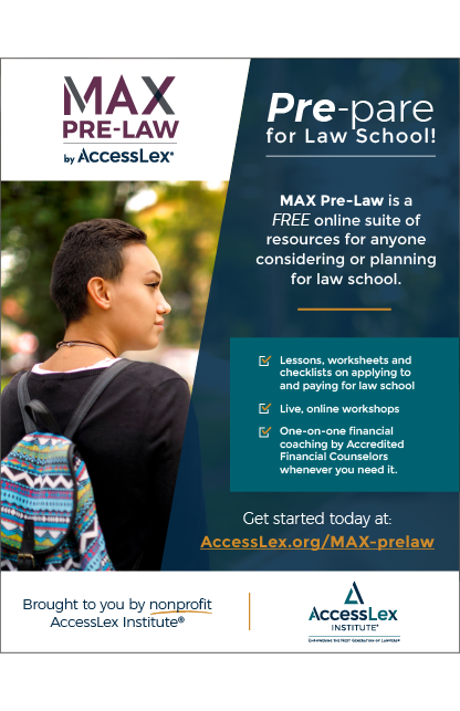 MAX Pre-Law by AccessLex Flyer