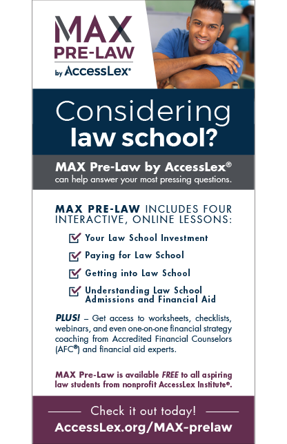 MAX Pre-Law Rack Card